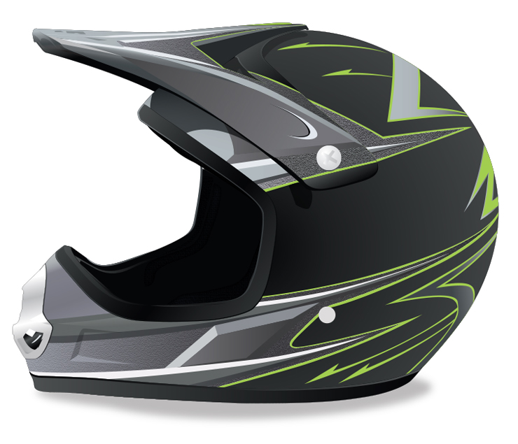 ATV riding helmet