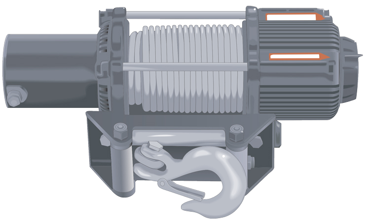 Detailed View of an ORV Winch