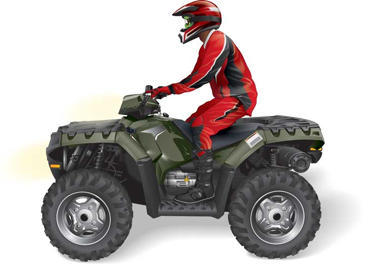 Posting position when riding an ATV