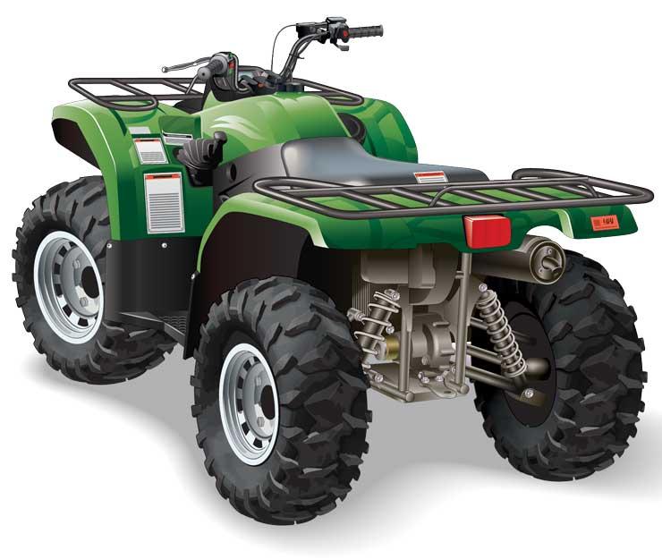 A parked ATV