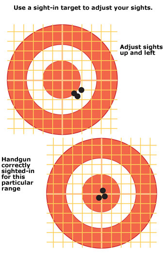 Use a sight-in target to adjust your sights.