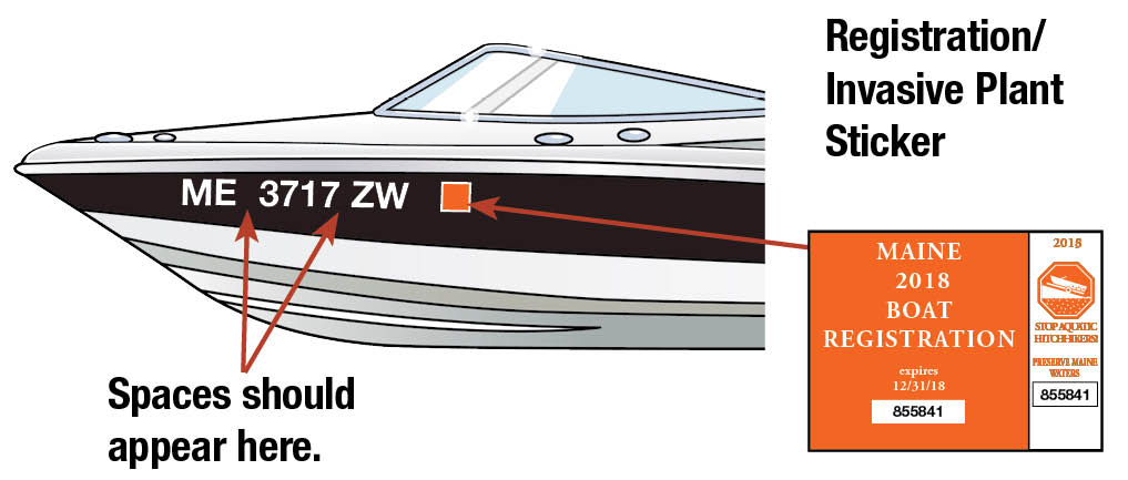 Maine Boat Decal 2018