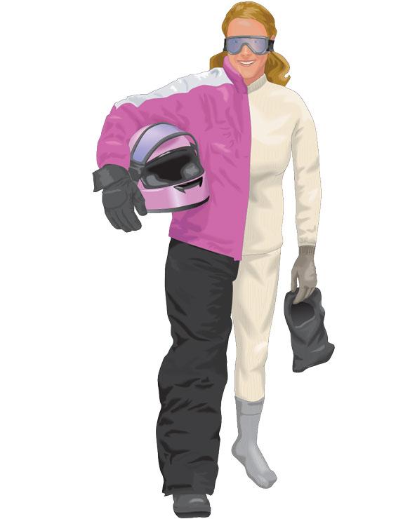 Snowmobile Riding Attire Woman