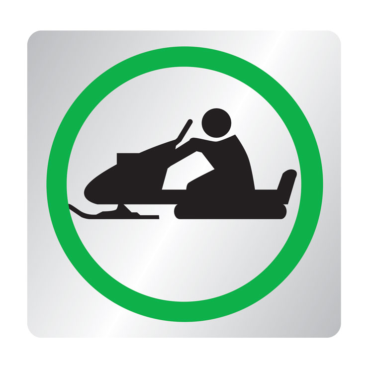 Snowmobile route sign