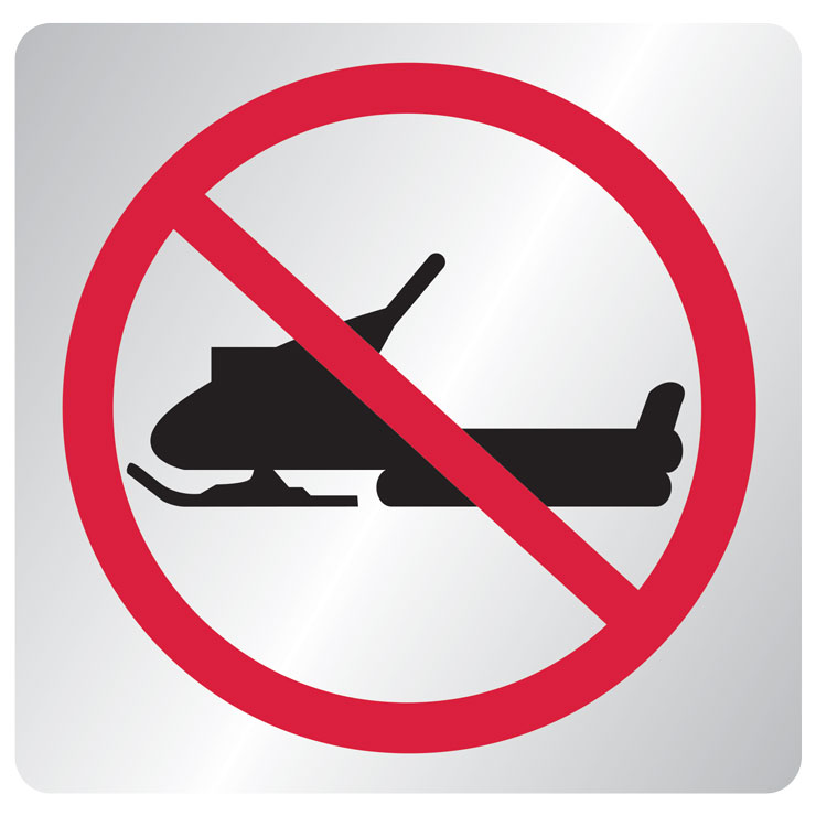 Snowmobile Prohibited sign