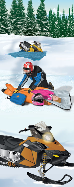 Snowmobile—Injured with Hypothermia