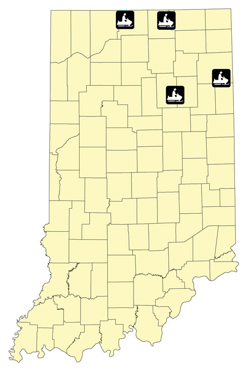 Indiana snowmobile trail map