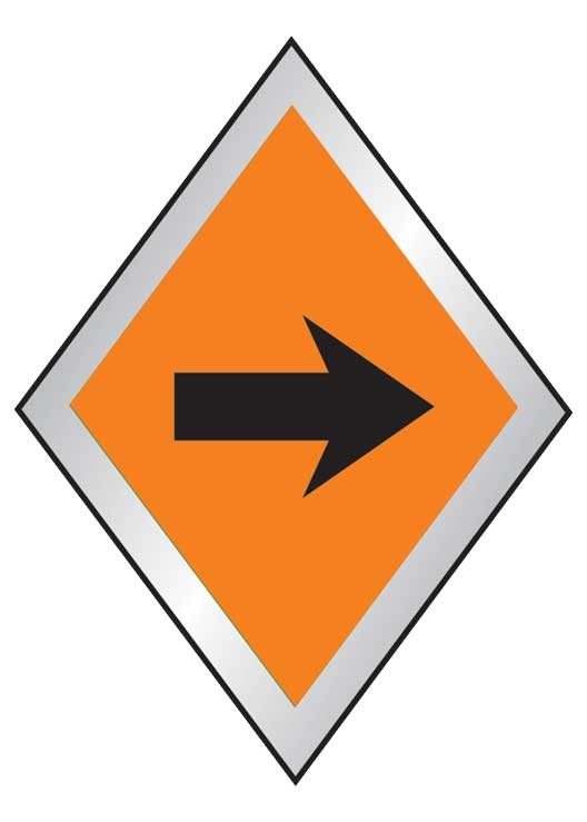 Trail marker with directional blazer