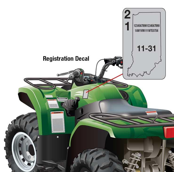 Indiana ORV registration decal