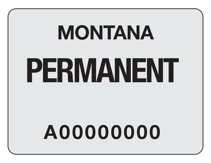 Montana snowmobile–Registration sticker