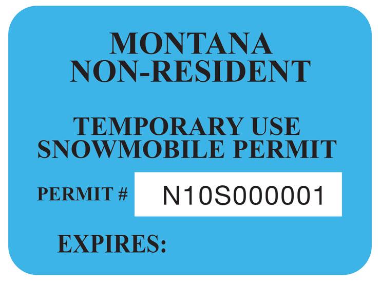 Montana–Non-resident smb permit