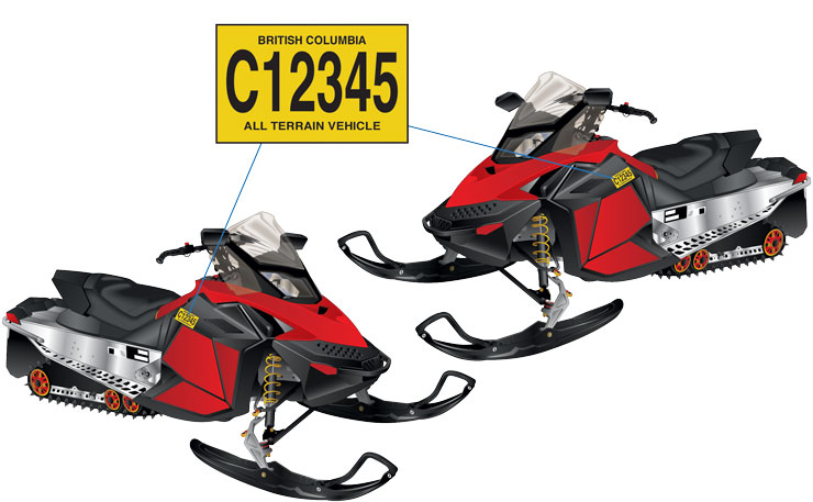 BC Snowmobile–Decal location