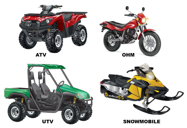 Types of off-road vehicles