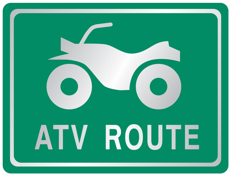 ATV route sign
