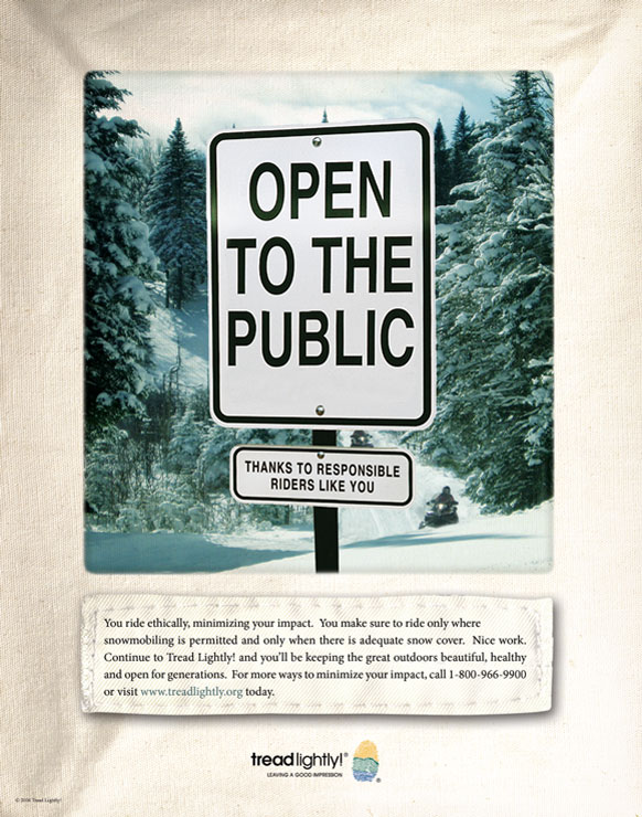 Open to the Public trail sign poster