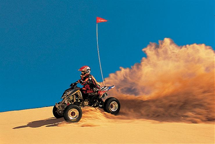 Arizona ATV riding across dunes