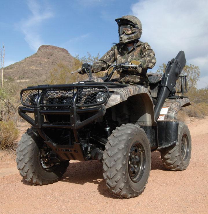 ATV rider in desert