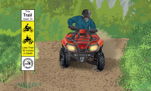 ATV riding on a trail