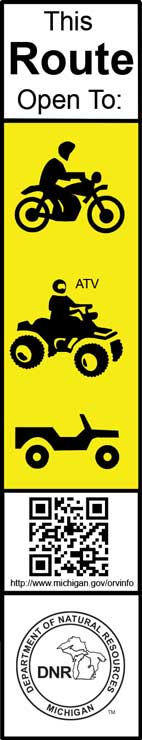 Designated ORV trail marker