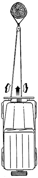 ORV being winched using a double line pulley