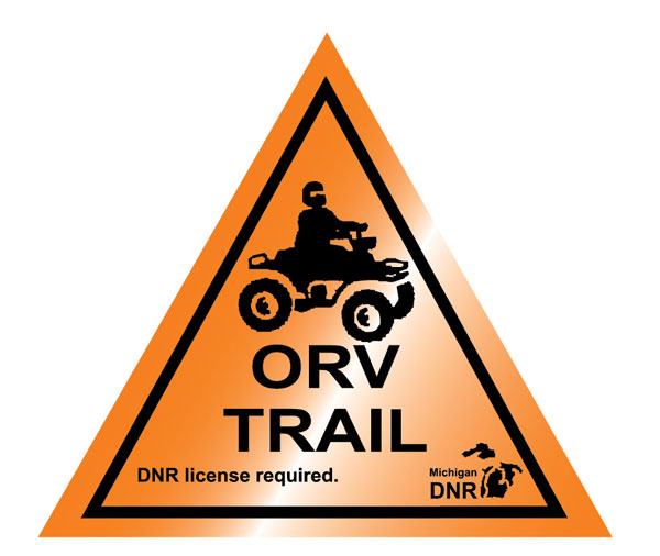 Old motorcycle and ATV trail marker