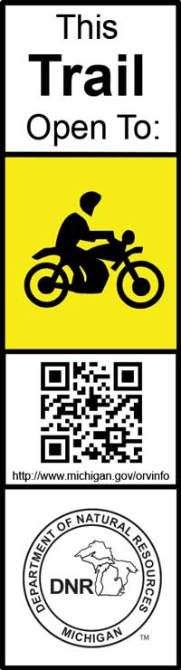 Current motorcycle trail marker