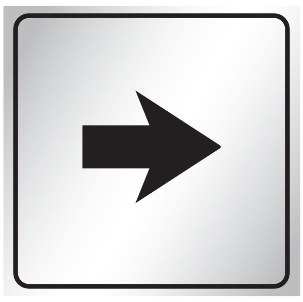 Directional arrow sign pointing right