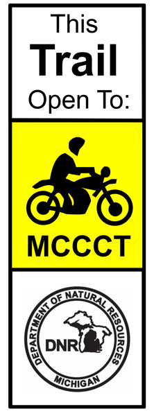 Current MCCCT/motorcycle trail marker