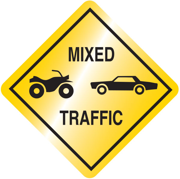 Mixed traffic sign