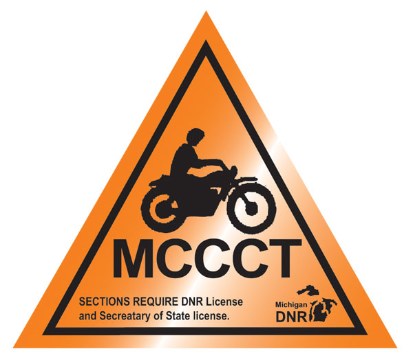 Old Michigan cross-country cycle trail (MCCCT) marker