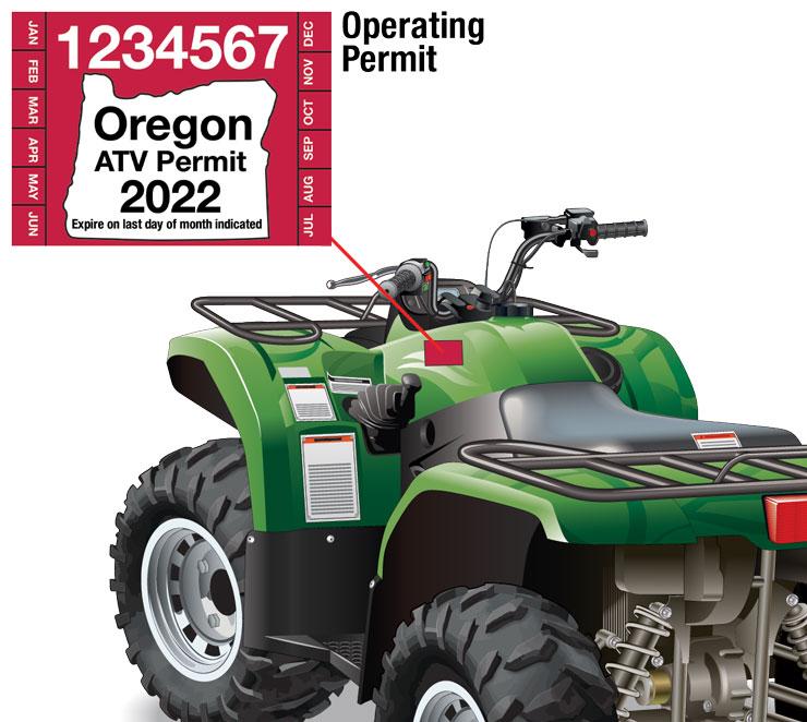 Oregon ATV operating permit location