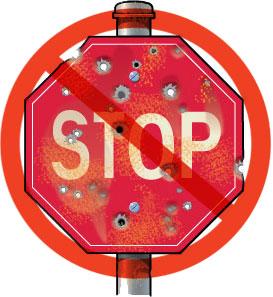 Stop sign vandalism