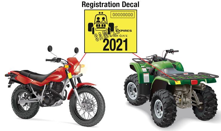 Utah off-highway vehicle registration