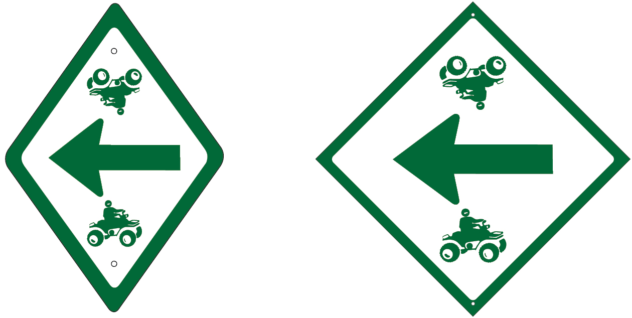 Vermont ORV trail route arrows