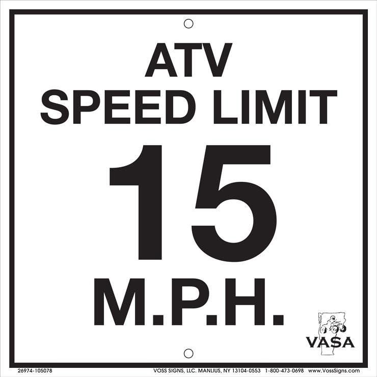 Vermont speed limit 15 MPH