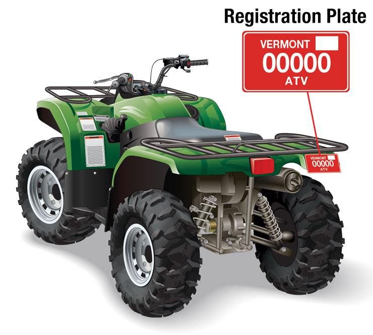 Vermont ATV registration plate location