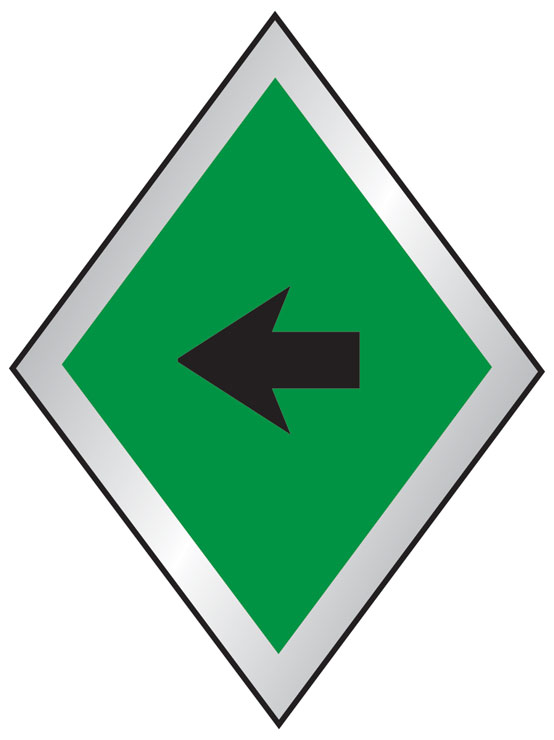 PA trail direction sign