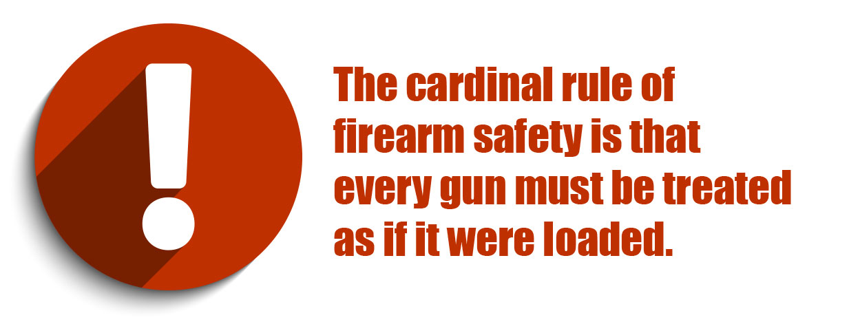 The cardinal rule of firearm safety