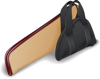 Padded, soft-sided handgun case