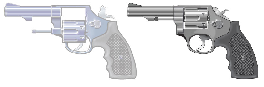 Example of a handgun's action