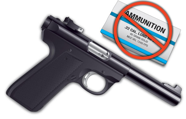 Wrong ammunition for the handgun