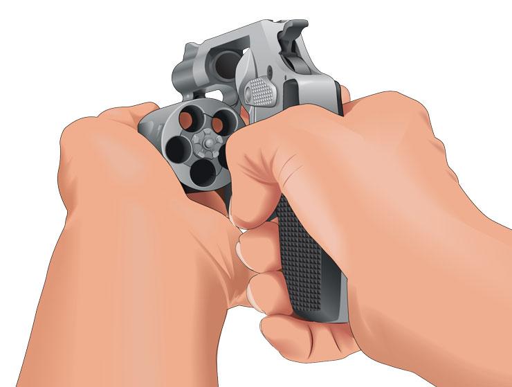 Checking handgun