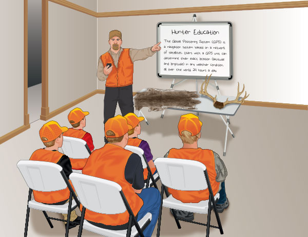 Hunter education classroom