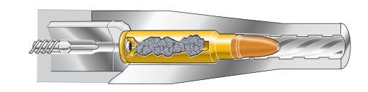 Cutaway: Cartridge chambered