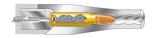 Cutaway: Cartridge chambered