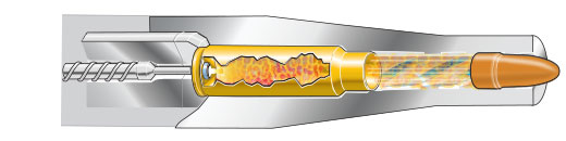 Cutaway: Cartridge is fired