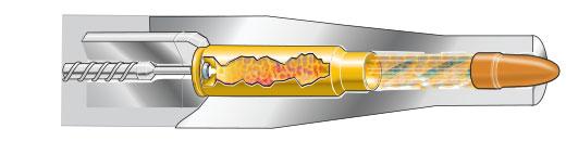 Cutaway: Cartridge is fired