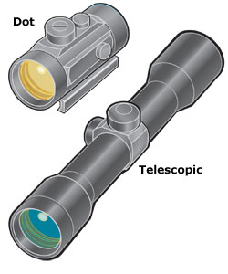 Dot sight and telescopic sight