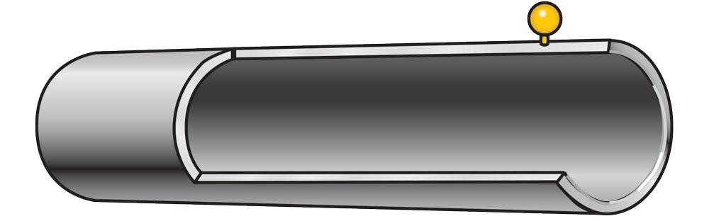 Example of cylinder choke on a shotgun