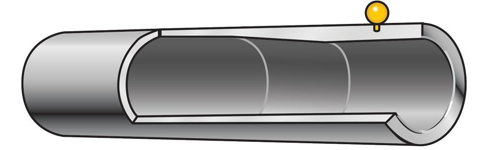 Example of improved cylinder choke on a shotgun